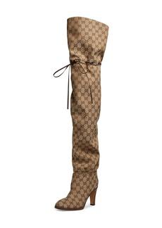 Gucci Original GG Canvas Over the Knee Boot (Women)