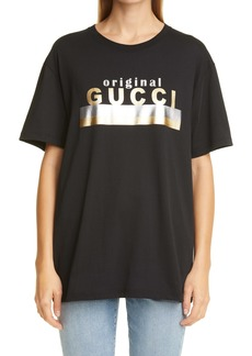 Gucci Original Logo Oversize Women's Graphic Tee