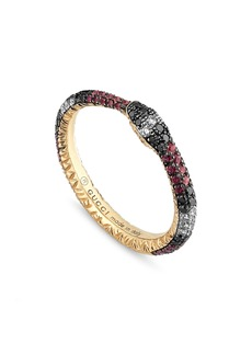 Gucci Ouroboros Diamond & Stone Pavé Snake Ring