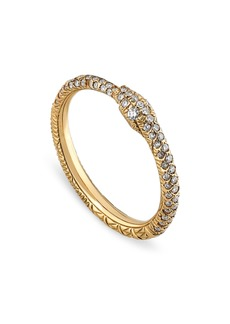 Gucci Ouroboros Diamond Pavé Snake Ring