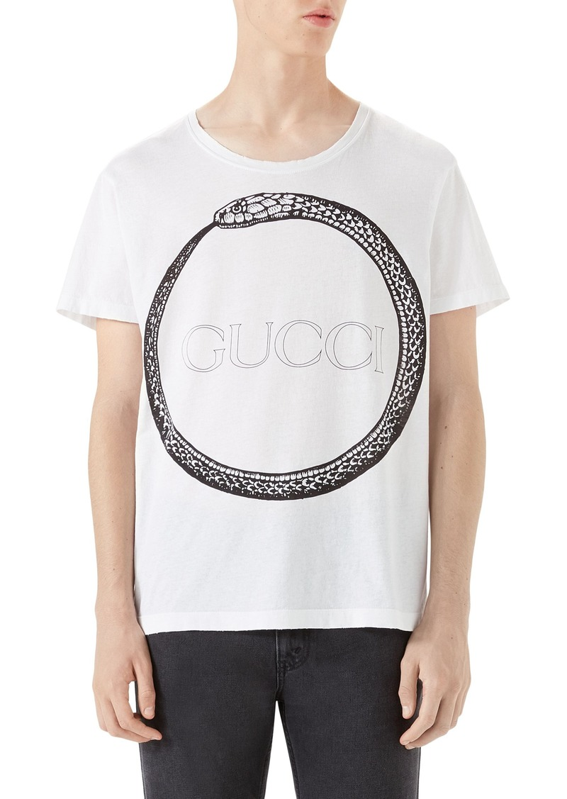 989dc5a379d Gucci Gucci Ouroboros Logo Graphic T-Shirt