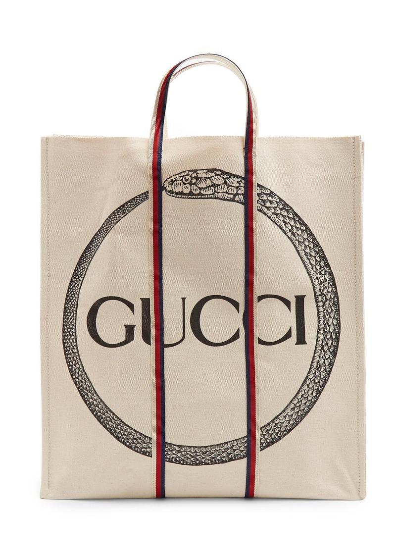 d57b6fd14401 Gucci Gucci Ouroboros-print cotton tote bag   Bags