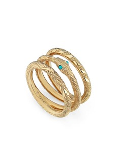 Gucci Ouroboros Set of 3 Stacking Rings