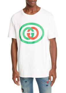 Gucci Interlocking-G Logo Oversize Cotton Graphic Tee
