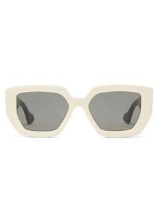 Gucci Oversized angular acetate sunglasses