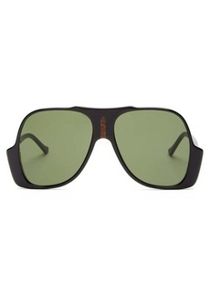 Gucci Oversized aviator acetate sunglasses