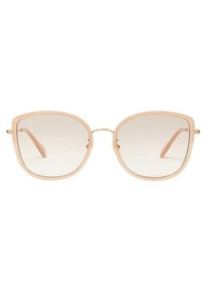 Gucci Oversized cat-eye acetate sunglasses