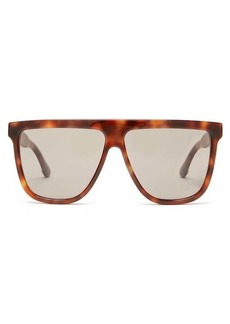 Gucci Oversized flat-top acetate sunglasses