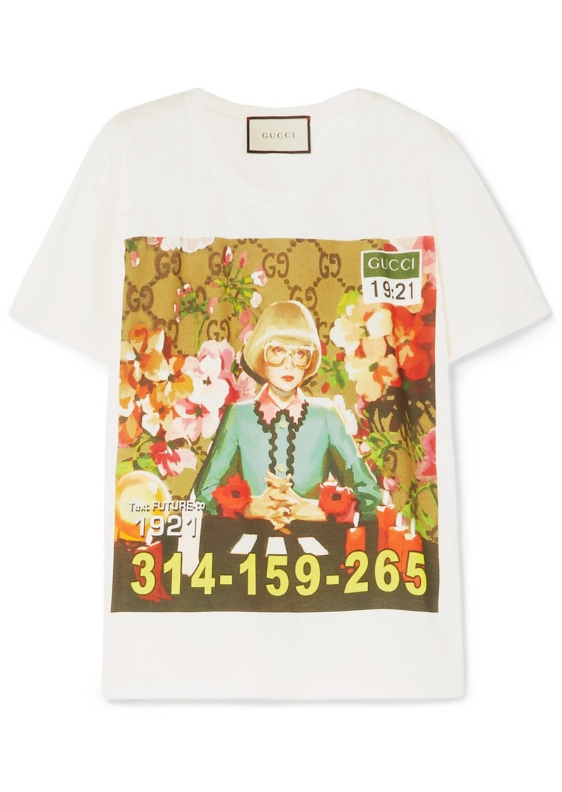 d2a071fc7 Gucci Oversized printed cotton-jersey T-shirt | Casual Shirts