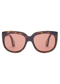 Gucci Oversized round tortoiseshell-acetate sunglasses