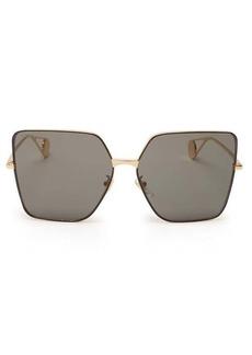 Gucci Oversized square metal sunglasses