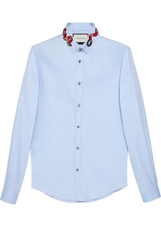 Gucci Oxford Duke shirt with snake