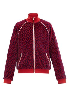 Gucci Padded rhombus-jacquard chenille track jacket