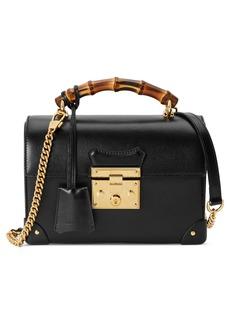 Gucci Padlock Bamboo Handle Leather Shoulder Bag