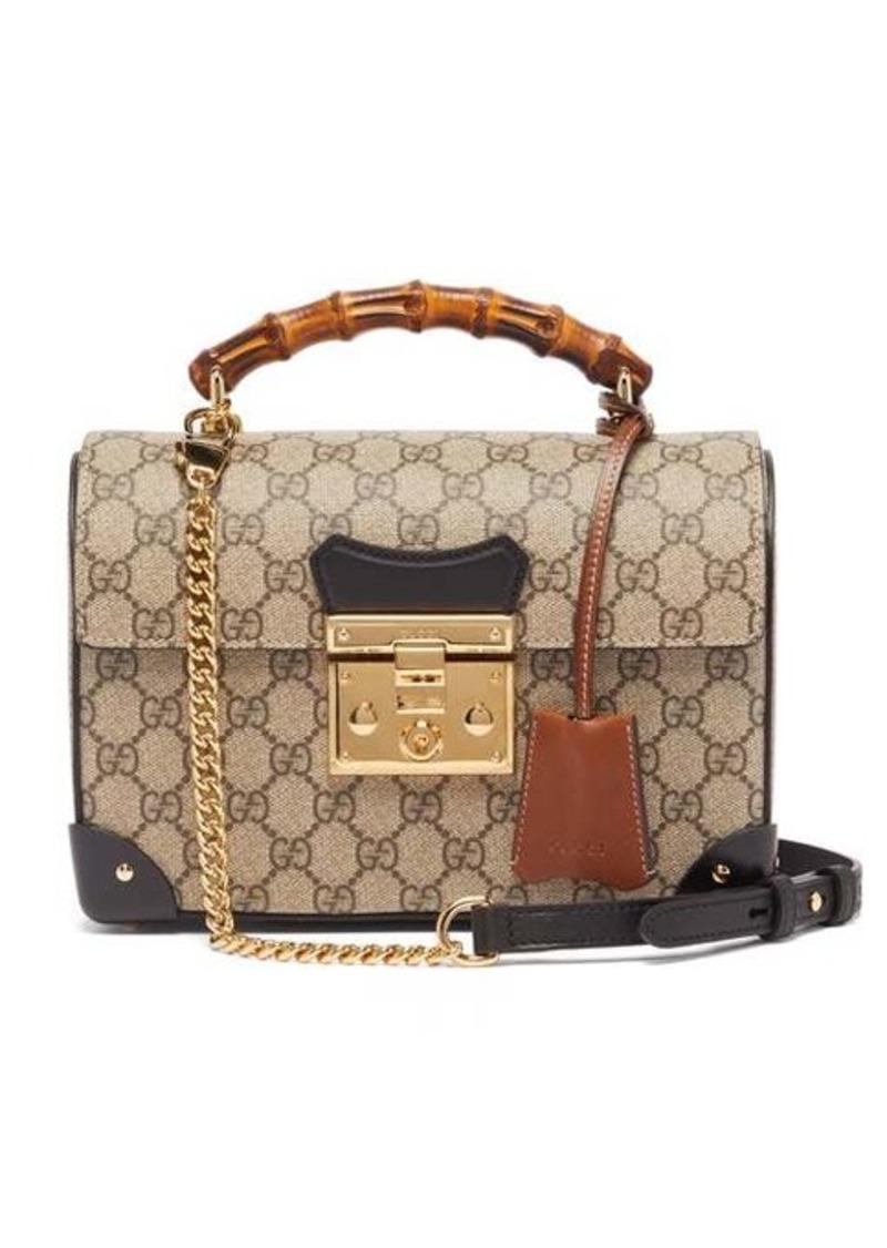 Gucci Padlock GG Supreme bamboo handbag