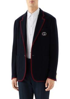 Gucci Palma Wool & Cotton Jersey Sport Coat