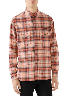 Gucci Paramount Plaid Flannel Shirt