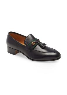 Gucci Paride GG Tassel Web Loafer (Men)