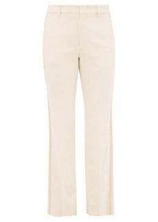Gucci Passementerie-striped crepe trousers