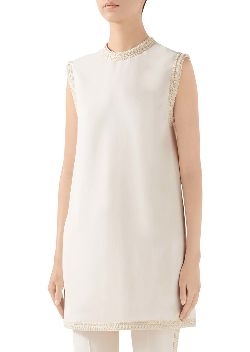 Gucci Passementerie Trim Stretch Cady Tunic Top