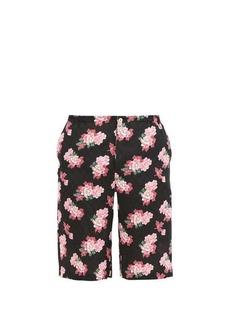 Gucci Peony Fantasy floral-print silk shorts