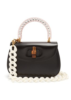 Gucci Perspex-handle leather bag