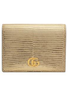 Gucci Petite Marmont Genuine Lizardskin Card Case