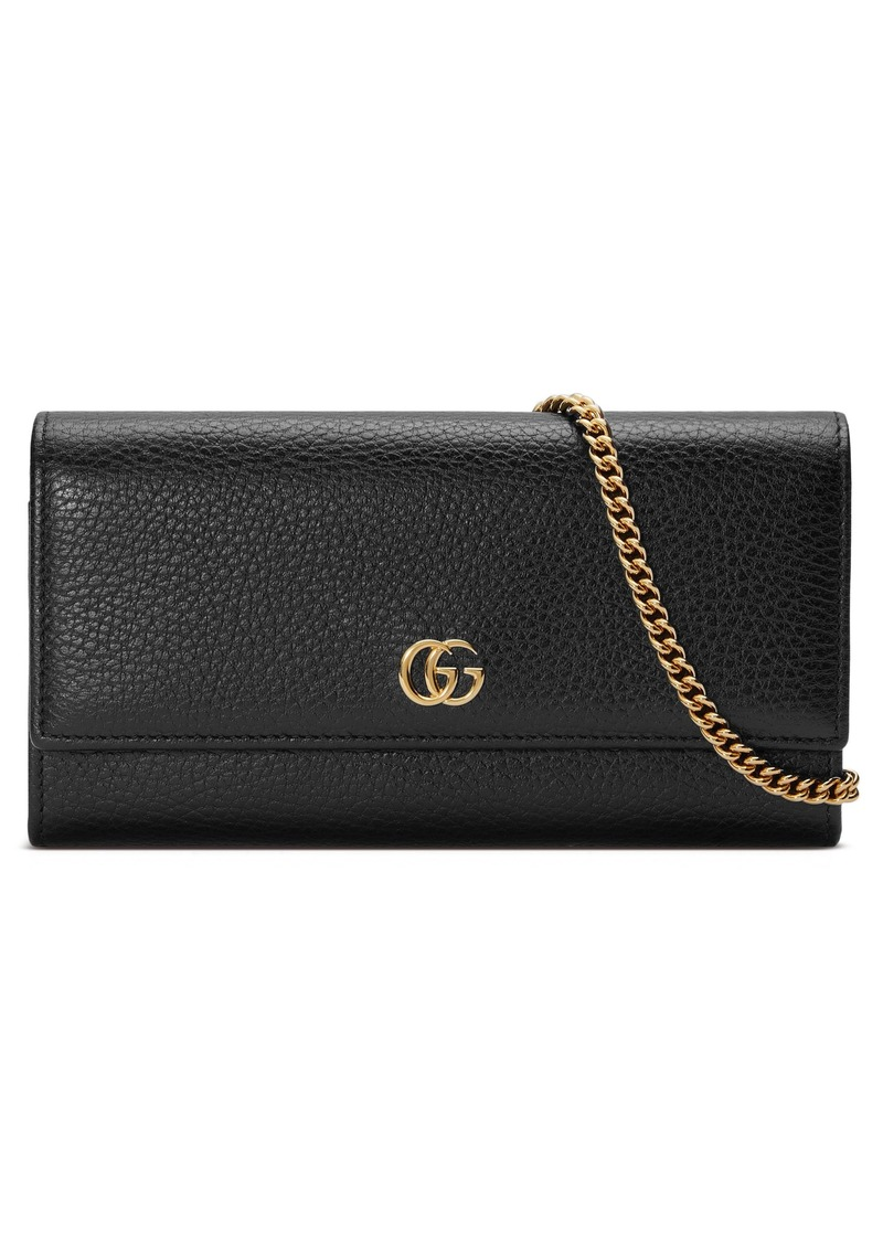 2e4a222464c Gucci Gucci Petite Marmont Leather Continental Wallet on a Chain ...