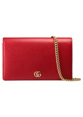 41b33428175bfd Gucci Gucci Petite Marmont Leather Wallet on a Chain | Handbags