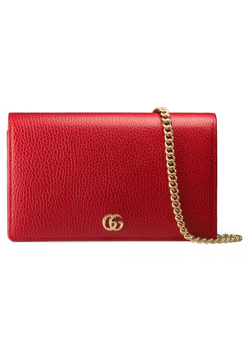 Gucci Petite Leather Wallet on a Chain