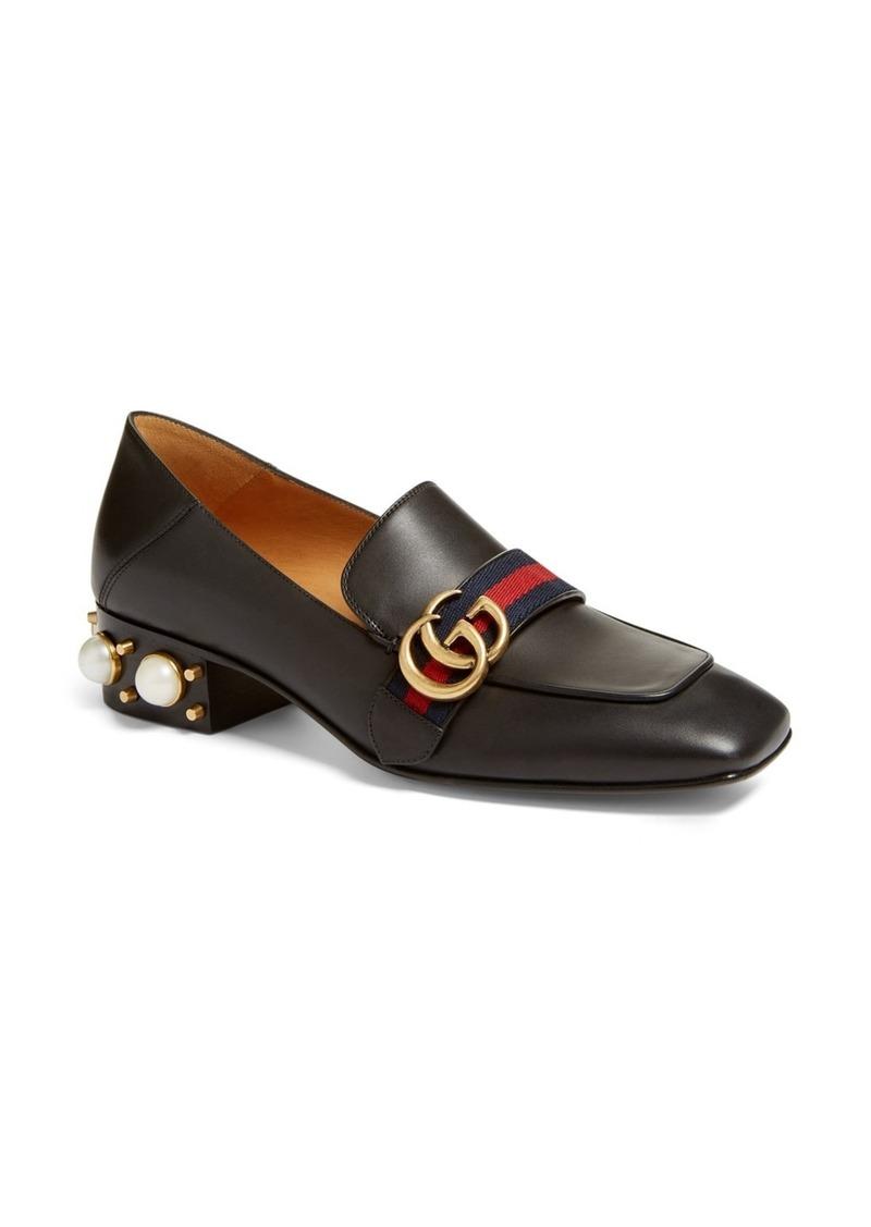 ea375b97b Gucci Gucci Embellished Heel Loafer (Women) | Shoes