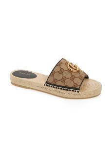 Gucci Pilar Original GG Canvas Espadrille Slide Sandal (Women)