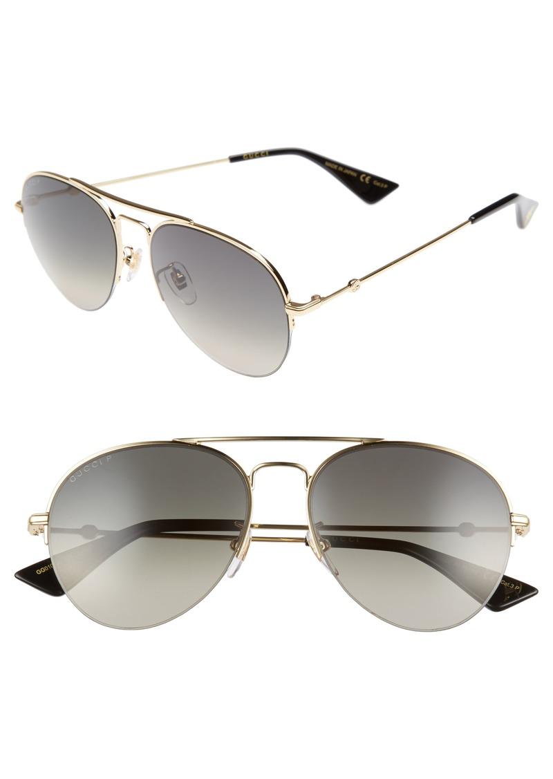 fb0a3c6189 Gucci Gucci Pilot 56mm Aviator Sunglasses