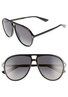 Gucci Pilot 59mm Sunglasses