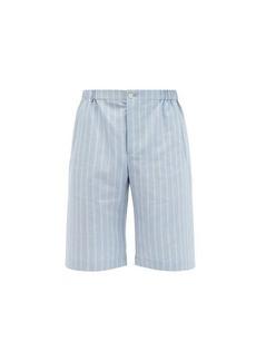 Gucci Pinstriped canvas shorts
