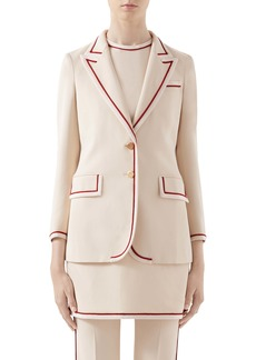 Gucci Piped Stretch Cady Blazer