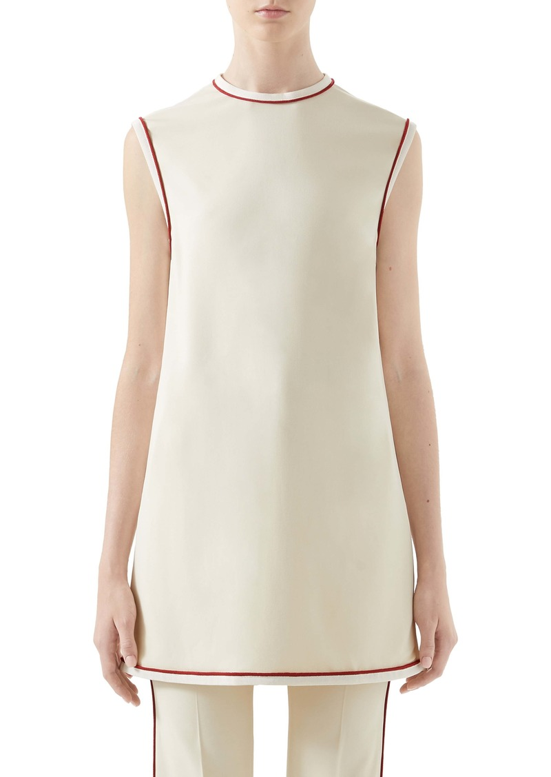 Gucci Piped Stretch Cady Tunic Top