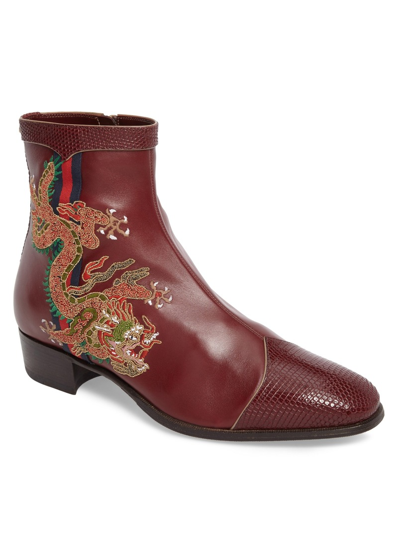 d5cbd8c0c60 Gucci Gucci Dragon Leather Boot (Men)