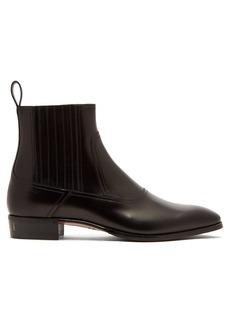 97f3aa26eb89c Gucci Gucci Printyl Patent Leather Zip Boot (Men)
