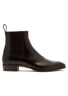 Gucci Plata leather chelsea boots