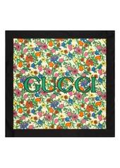 Gucci Pop Flora Print Silk Scarf