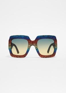 Gucci Pop Glitter Iconic Oversized Square Sunglasses