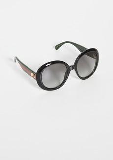 Gucci Pop Web Oversized Oval Sunglasses