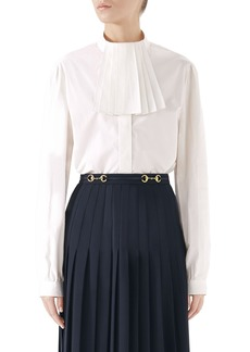 Gucci Poplin Blouse with Removable Neck Detail