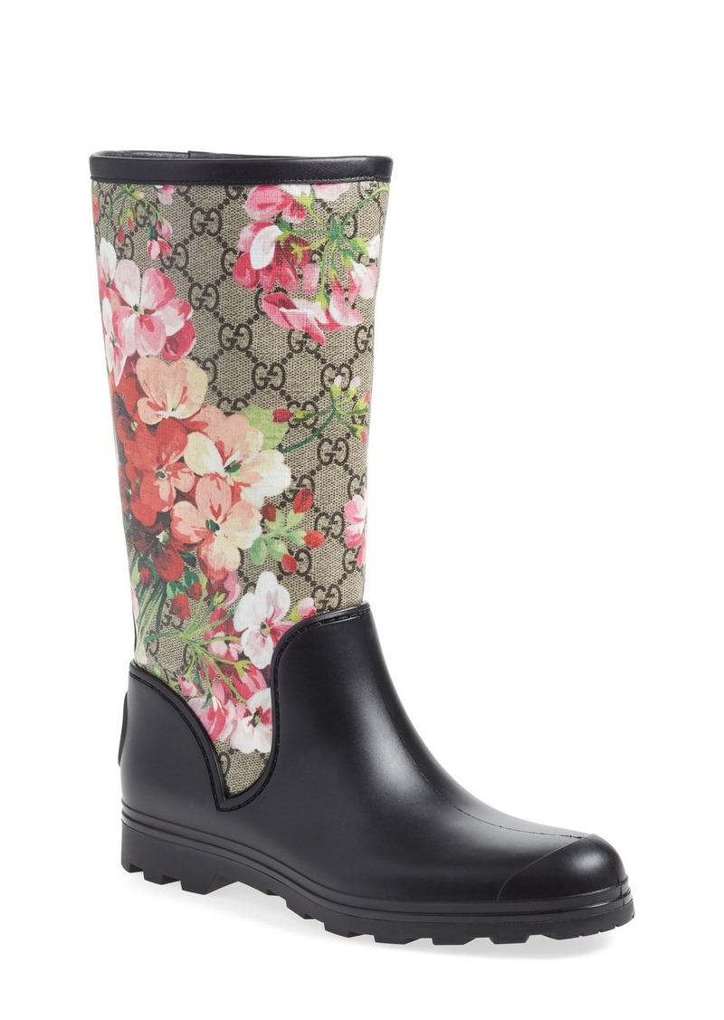 2a34035ab375 Gucci Gucci  Prato - GG Blooms  Rain Boot (Women) Now  341.98