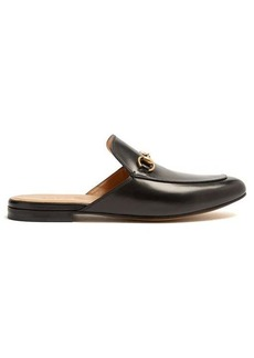 Gucci Princetown backless leather loafers