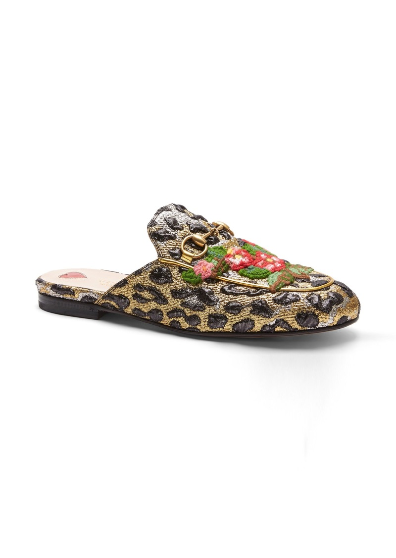 5bcddf9627bc Gucci Gucci Princetown Embroidered Mule Loafer (Women)