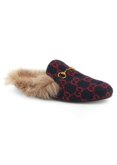 Gucci Princetown Genuine Shearling Lined Mule Loafer (Men)