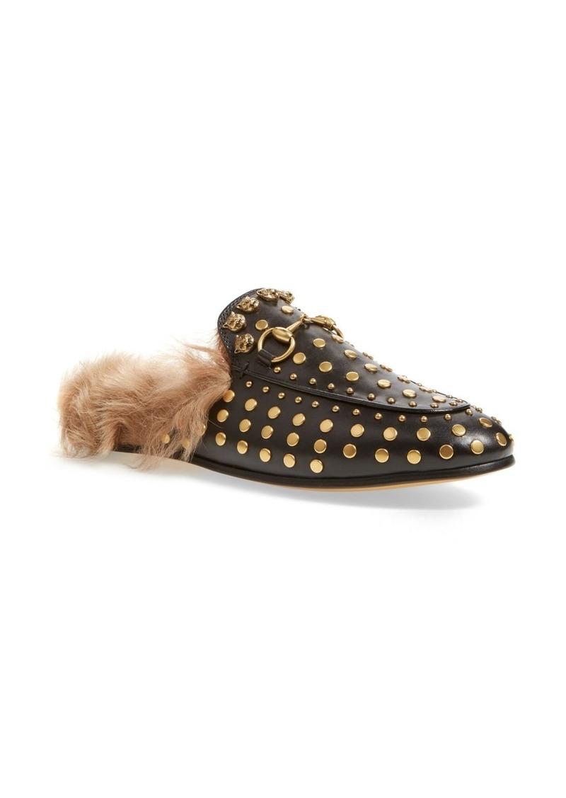 78380172d38 Gucci Gucci Princetown Genuine Shearling Loafer Mule (Women)