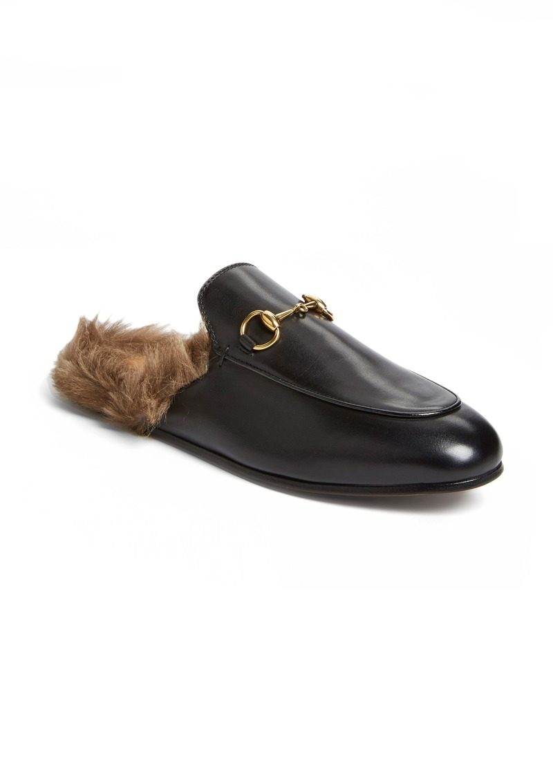 Gucci Gucci  Princetown  Genuine Shearling Loafer Mule (Women)  d308c329c